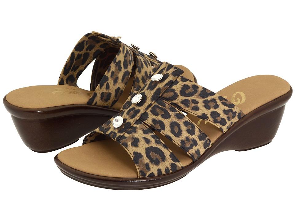 Onex Miley (Brown Leopard) Women's Slide Shoes
