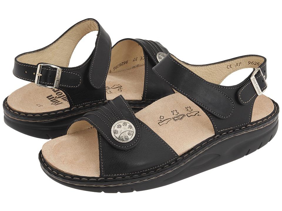 Finn Comfort - Sausalito - 1572 (Black Nappa Lea) Womens Sandals