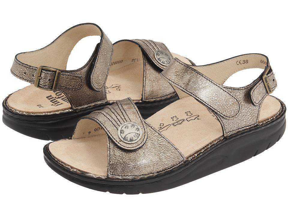 Finn Comfort Sausalito 1572 Espresso Corten Leather Womens Sandals