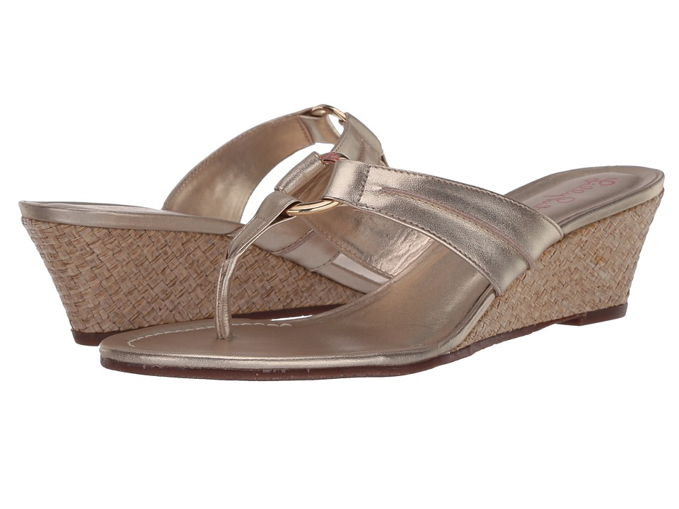 Lilly Pulitzer Mckim Wedge (Gold Metallic) Sandals