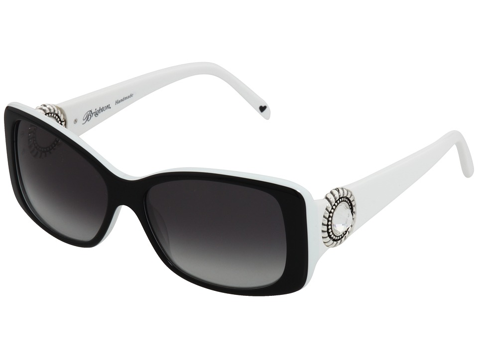 Brighton - Twinkle (Black/White) Plastic Frame Fashion Sunglasses