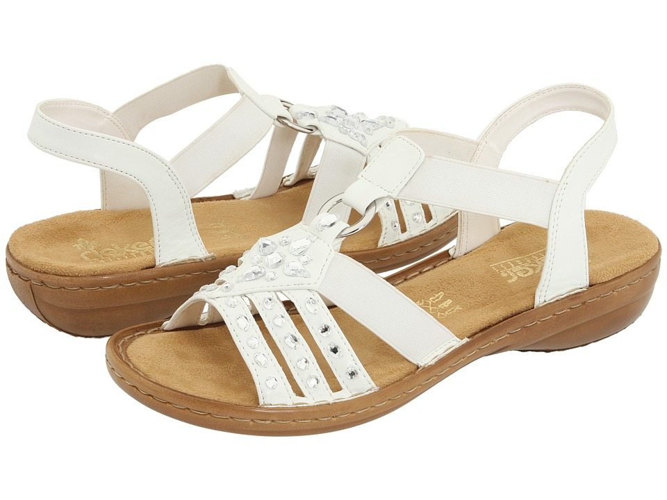 Rieker 60802 Regina 02 (White) Sandals