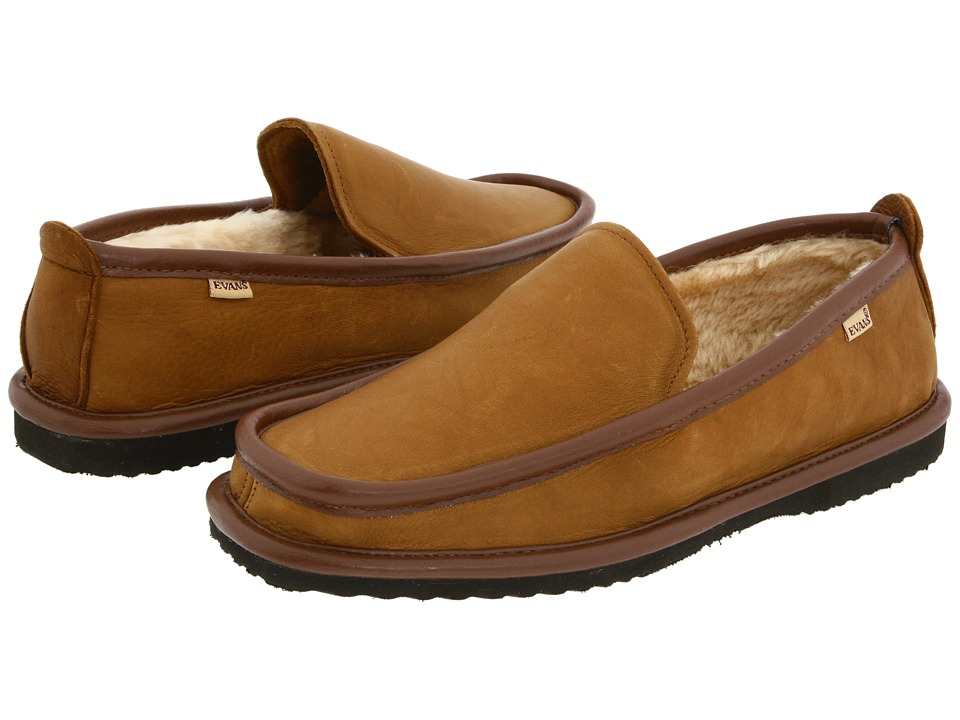 L.B. Evans - Imperial Deer (Mocha Deerskin) Men's Slippers