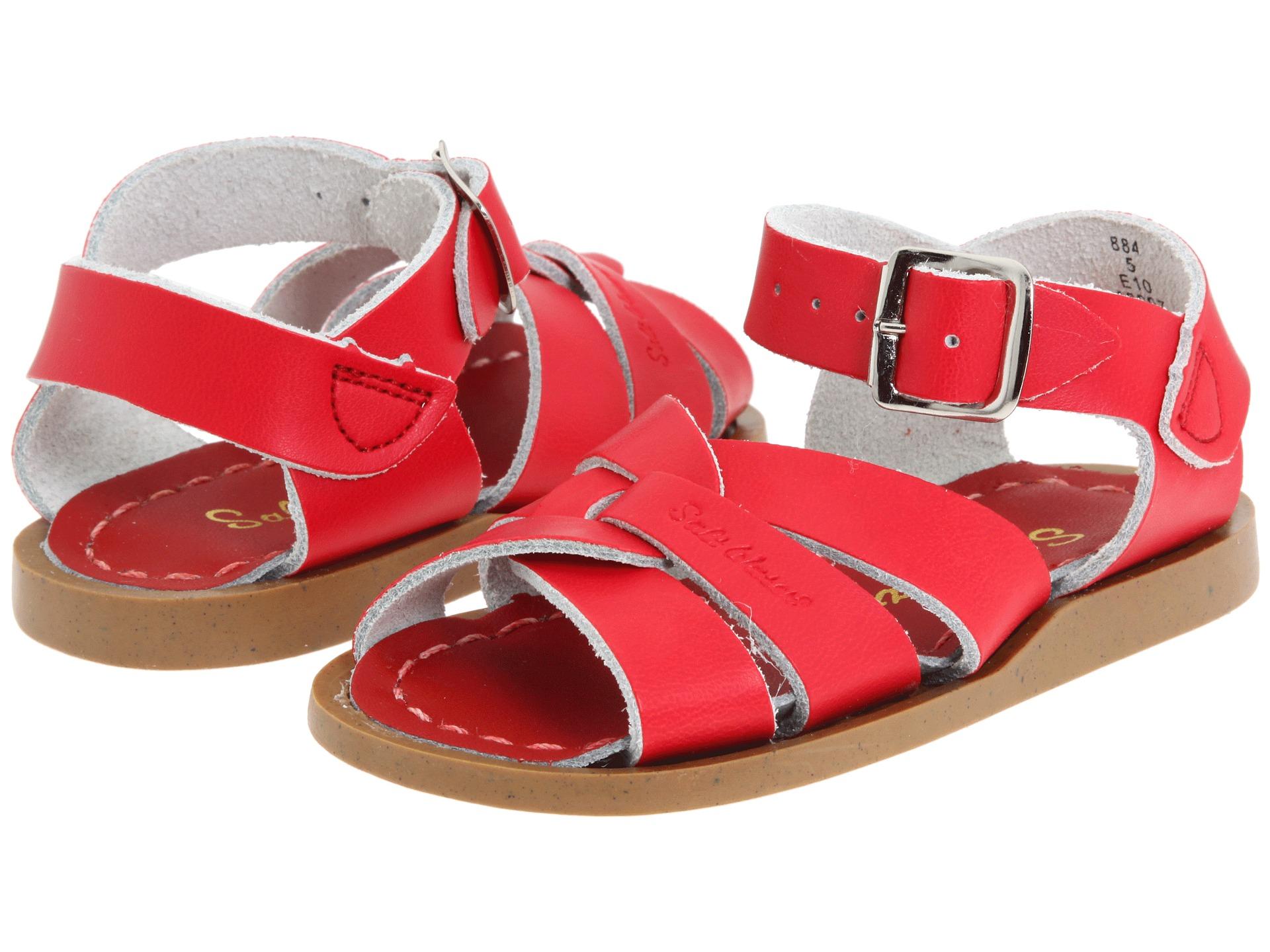 salt water sandal by hoy shoes the original sandal infant toddler red free. Black Bedroom Furniture Sets. Home Design Ideas