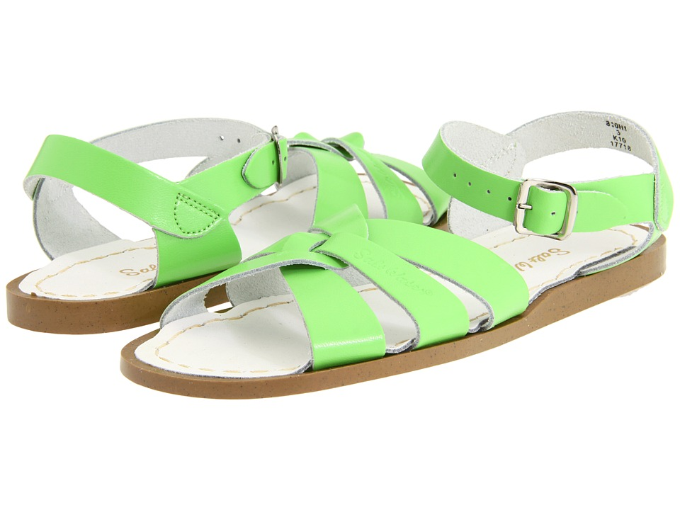 Salt Water Sandal by Hoy Shoes The Original Sandal ToddlerLittle Kid Lime Green Girls Shoes