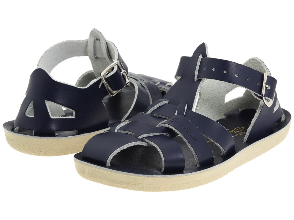 Salt Water Sandals Sun-San Sharks (Toddler/Little Kid) (Blue/Navy) Kid's Shoes