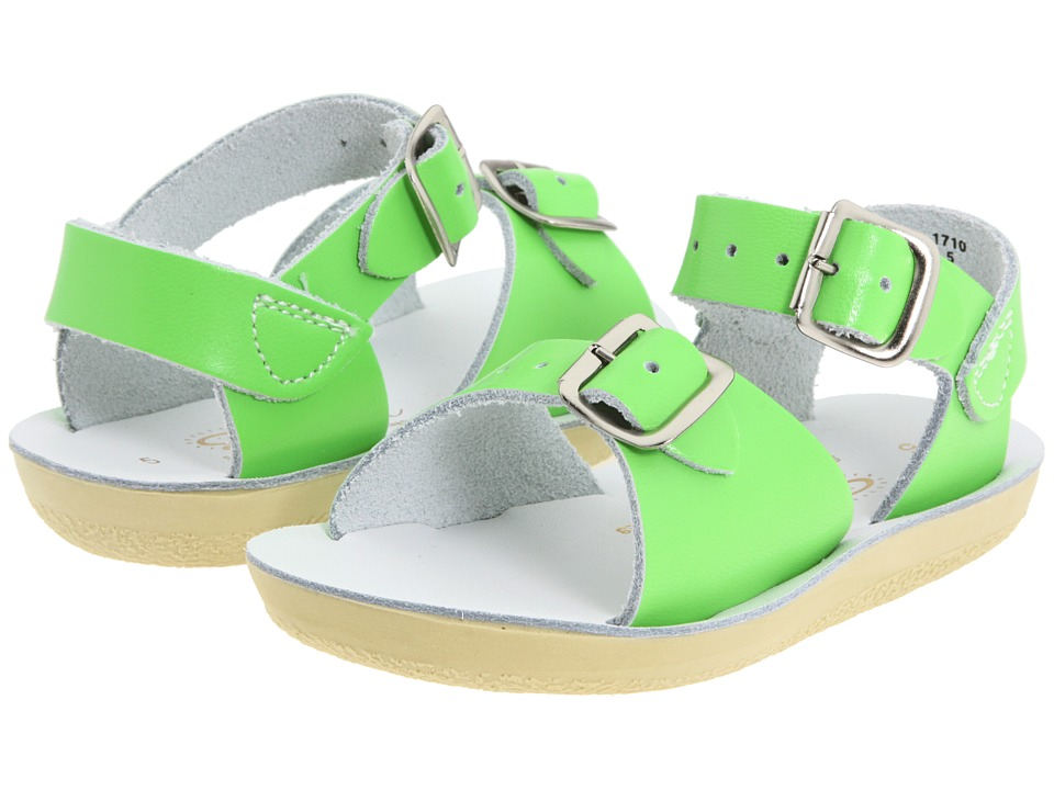 Salt Water Sandals Sun-San Surfer (Toddler/Little Kid) (Lime Green) Kid's Shoes