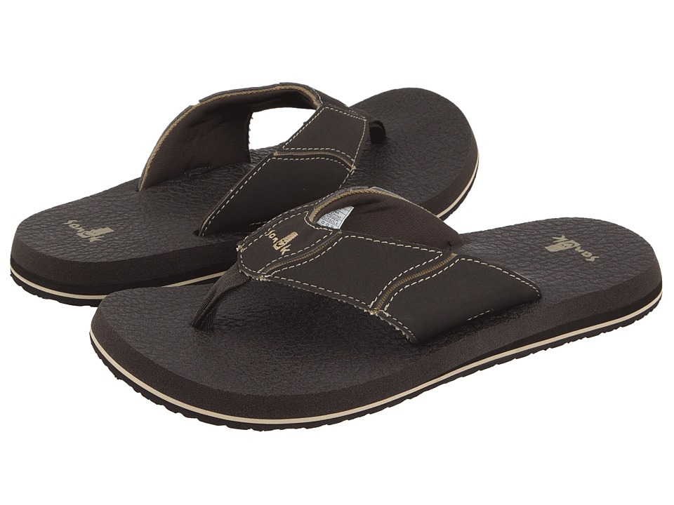 Sanuk Fault Line Brown Mens Sandals