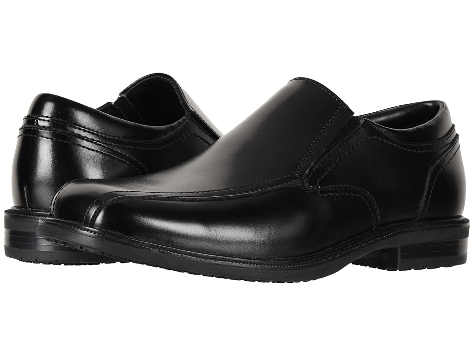 Dockers - Society Bike Toe Loafer (Black Polished Leather) Mens Slip on  Shoes