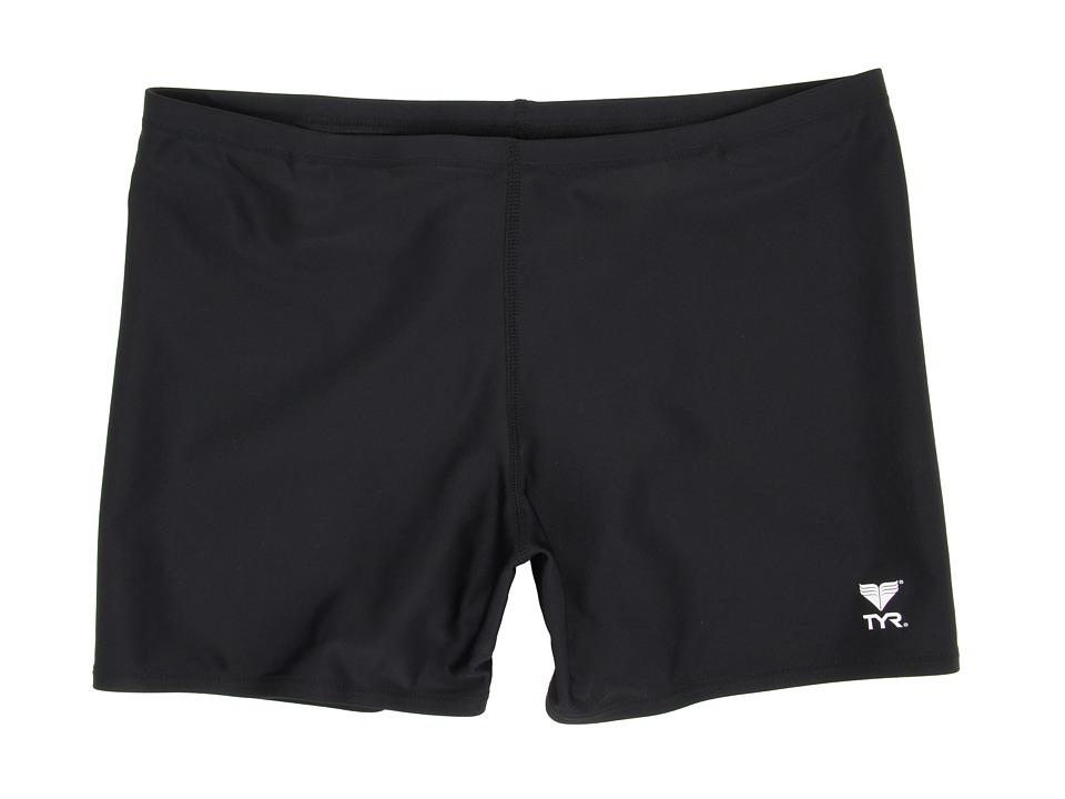 TYR - Male Solid Square Leg (Black) Men's Swimwear