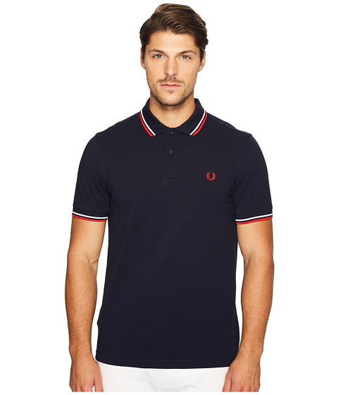 fred perry slim fit twin tipped fred perry polo zappos. Black Bedroom Furniture Sets. Home Design Ideas