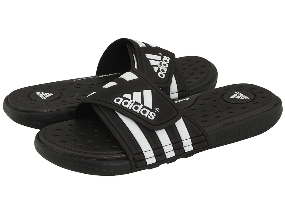 adidas - adissage CF M (Black/Running White/Black) Mens Slide Shoes