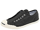 Converse - Jack Purcell Low Profile Slip (Black/Egret Leather) - Footwear