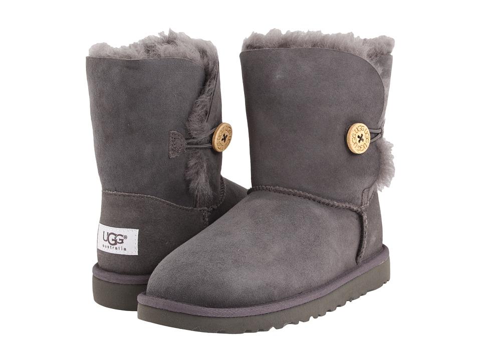 UGG Kids Bailey Button Little Kid/Big Kid Grey Girls Shoes
