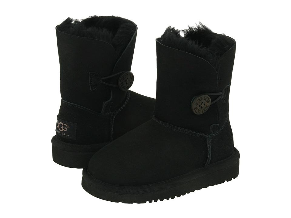 UGG Kids Bailey Button Toddler/Little Kid Black Girls Shoes
