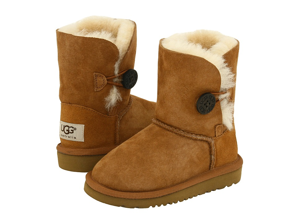 UGG Kids Bailey Button (Toddler/Little Kid) (Chestnut) Girls Shoes