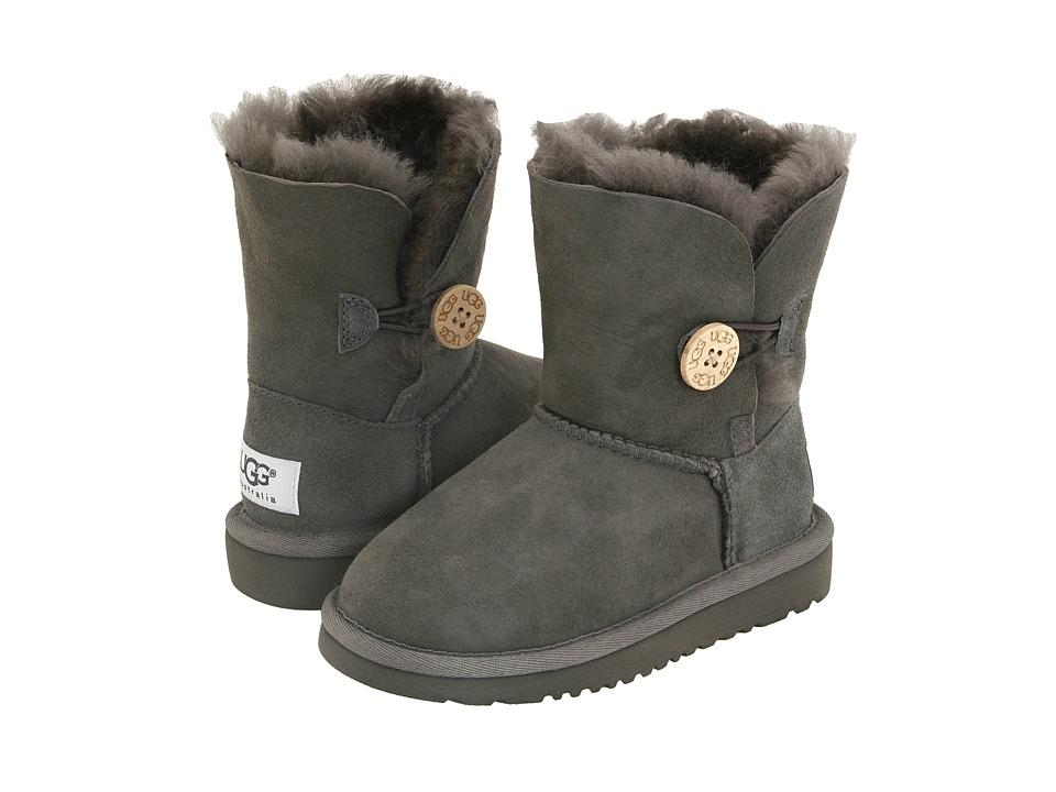 UGG Kids Bailey Button Toddler/Little Kid Grey Girls Shoes