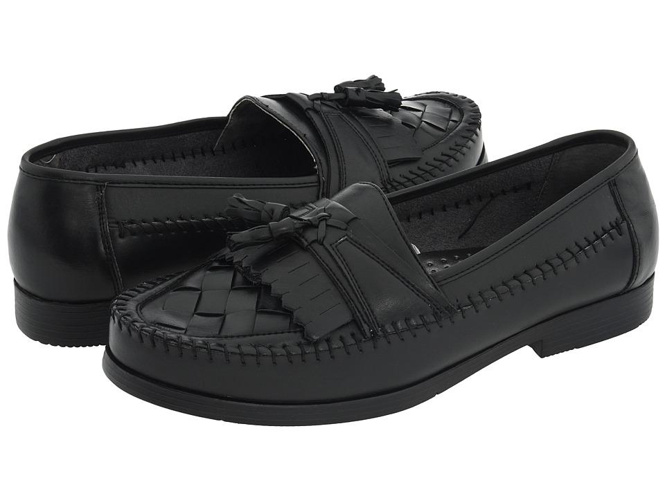 Deer Stags - Herman (Black Burnished Leather) Mens Slip on  Shoes