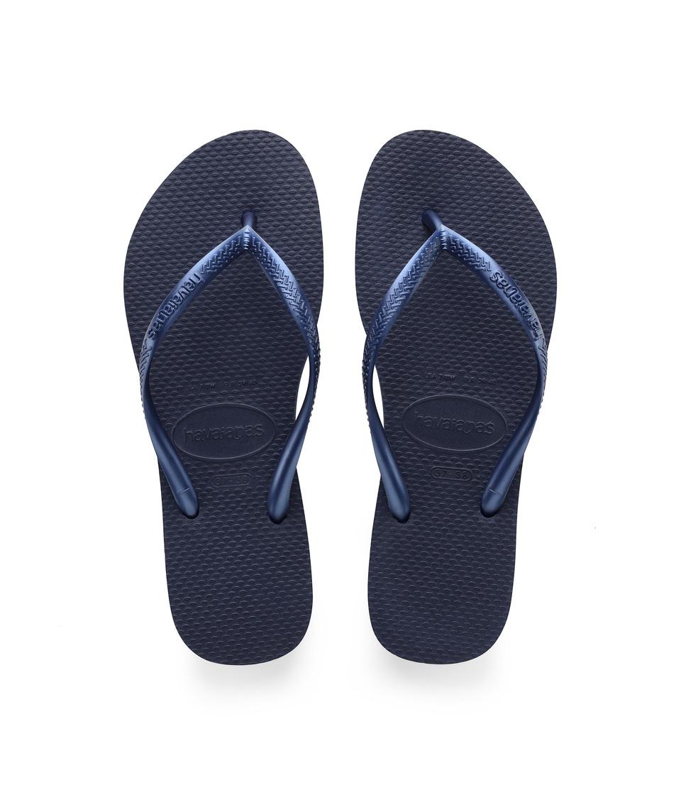 Havaianas Slim Flip Flops (Navy) Sandals
