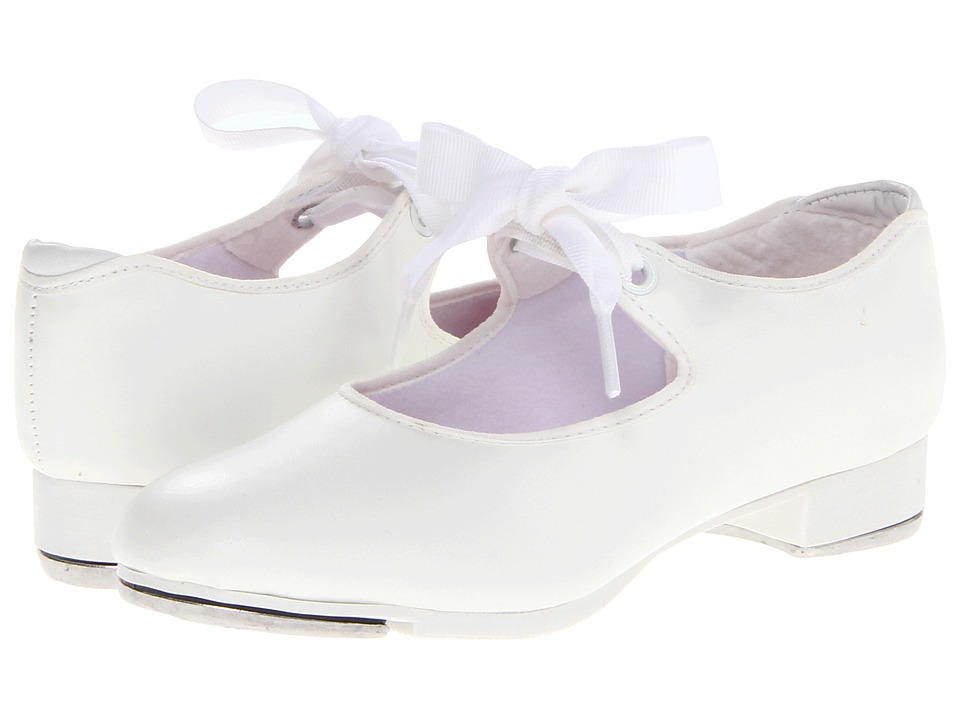 Capezio Kids Jr. Tyette N625C Toddler/Little Kid White Girls Shoes
