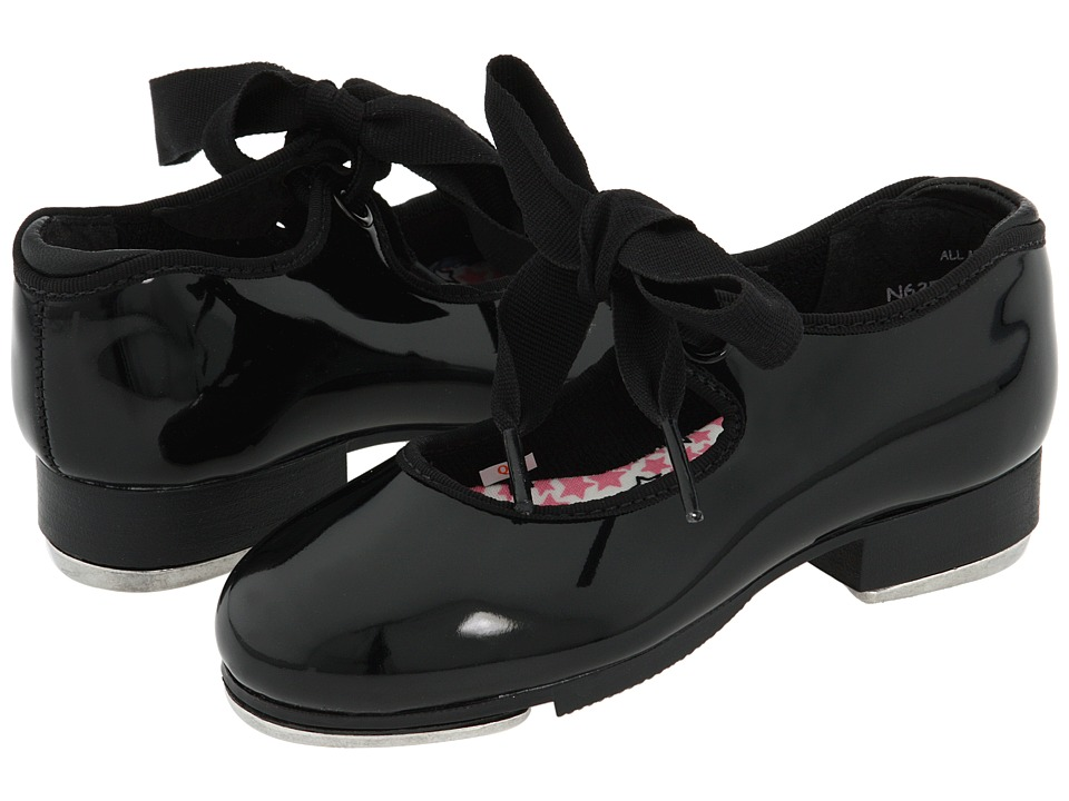 Capezio Kids Jr. Tyette N625C Toddler/Little Kid Black Patent Girls Shoes