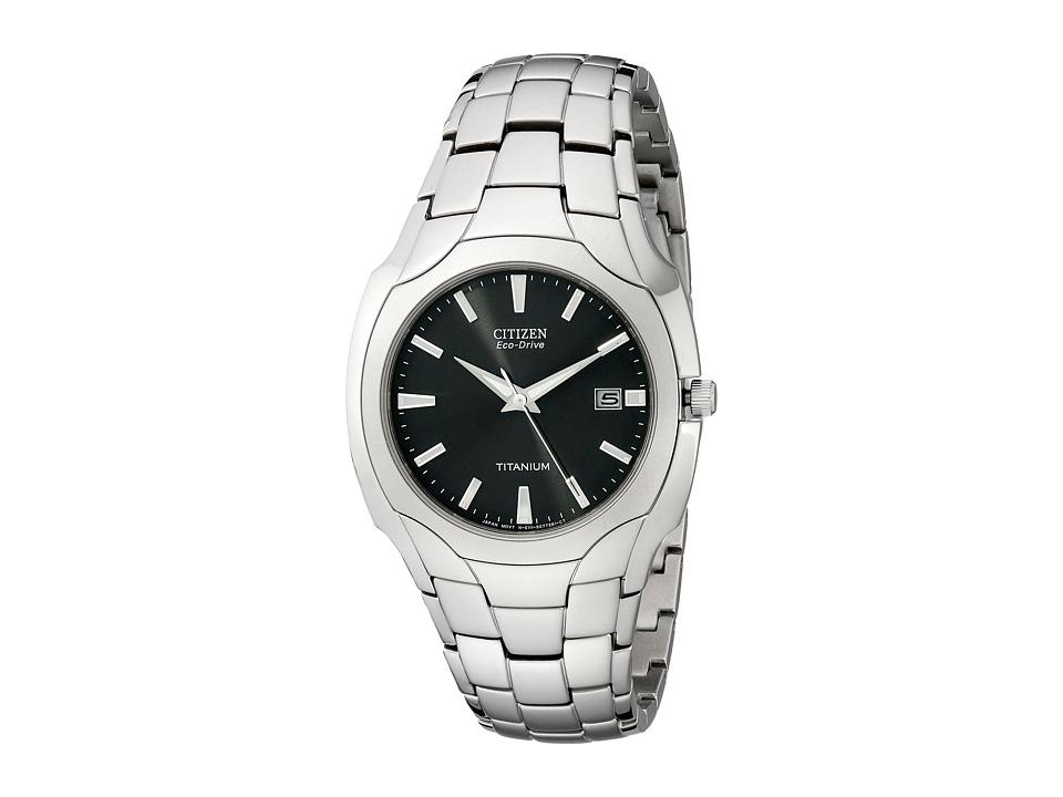 Citizen Watches - BM6560-54H Eco-Drive Titanium Watch (Black/Titanium) Dress Watches