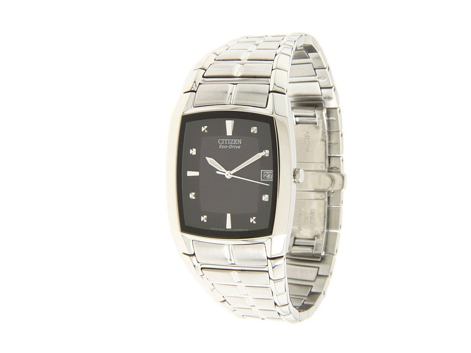 Citizen Watches BM6550 58E Eco Drive Stainless Steel Watch Black/Stainless Steel Dress Watches