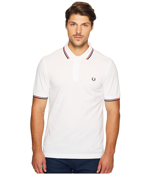 fred perry twin tipped shirt white bright red navy. Black Bedroom Furniture Sets. Home Design Ideas