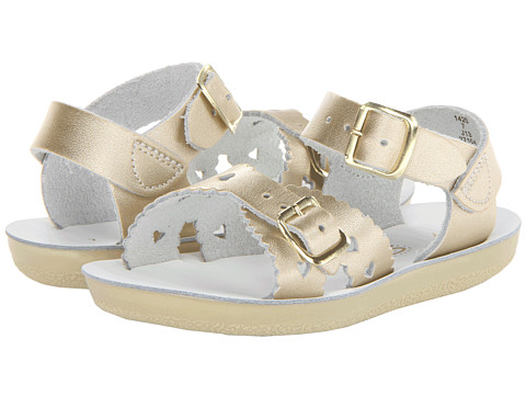 Salt Water Sandal by Hoy Shoes Sun-San - Sweetheart (Toddler/Little Kid) - Gold
