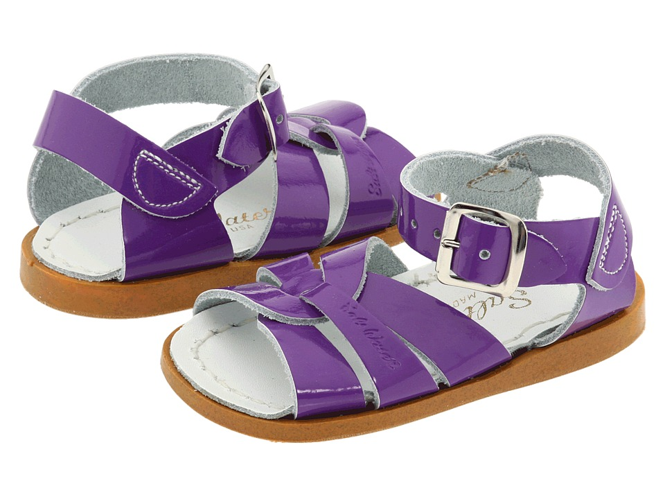 Salt Water Sandal by Hoy Shoes The Original Sandal (Infant/Toddler) (Shiny Purple) Girls Shoes