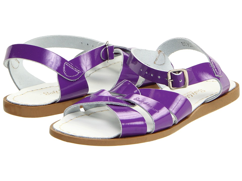 Salt Water Sandal by Hoy Shoes The Original Sandal (Big Kid/Adult) (Shiny Purple) Girls Shoes