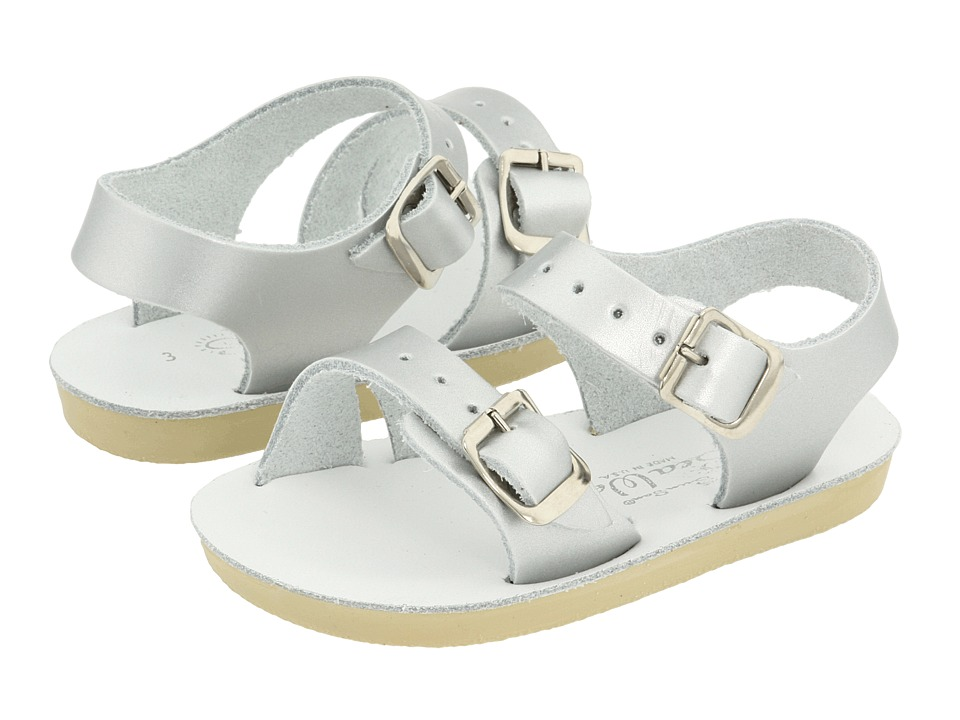 Salt Water Sandal by Hoy Shoes Sun San Sea Wees Infant/Toddler Silver Girls Shoes
