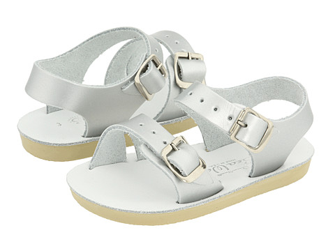 Salt Water Sandal by Hoy Shoes Sun-San - Sea Wees (Infant/Toddler) - Silver