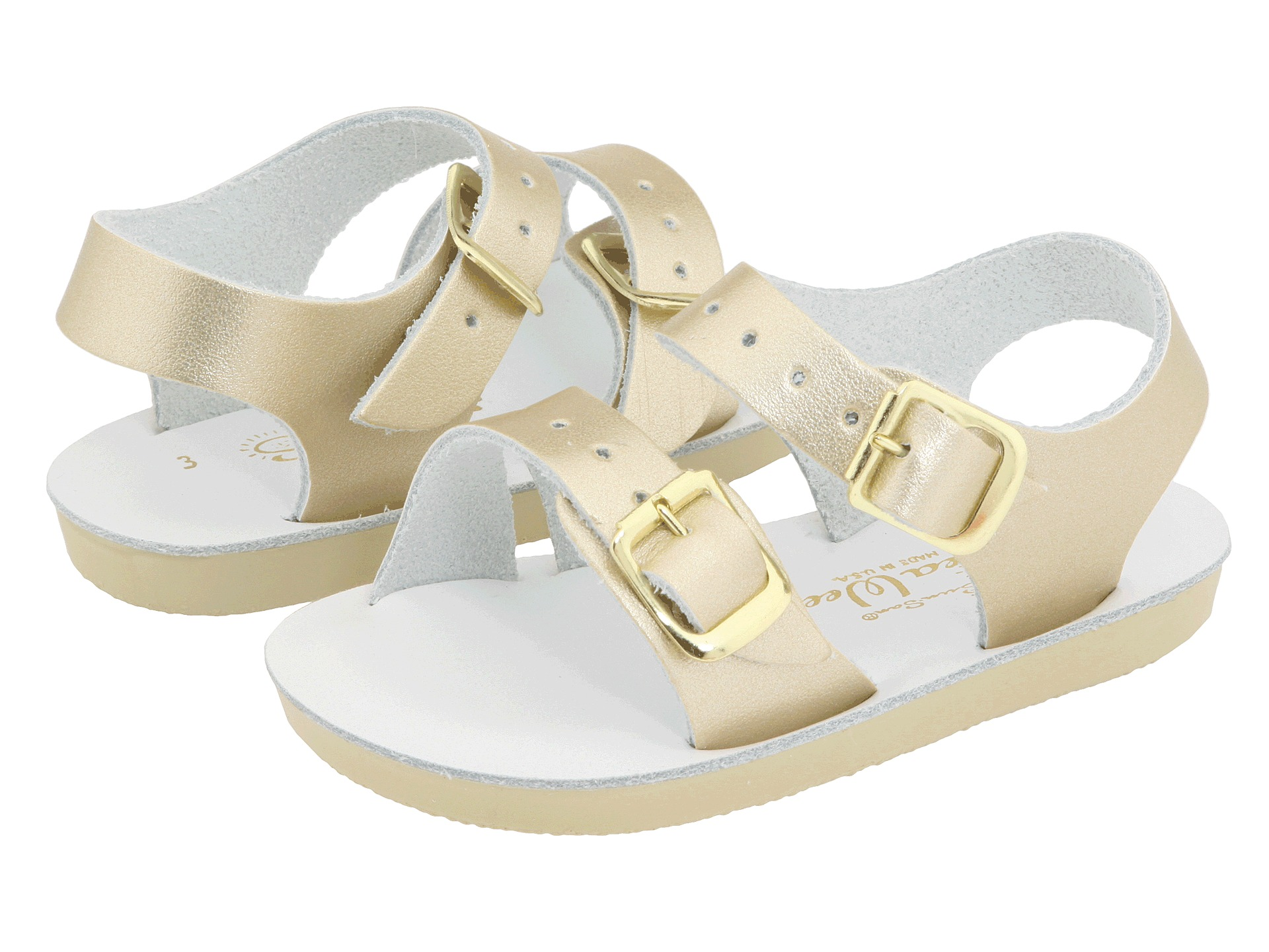 salt water sandal by hoy shoes sun san sea wees infant toddler gold free. Black Bedroom Furniture Sets. Home Design Ideas