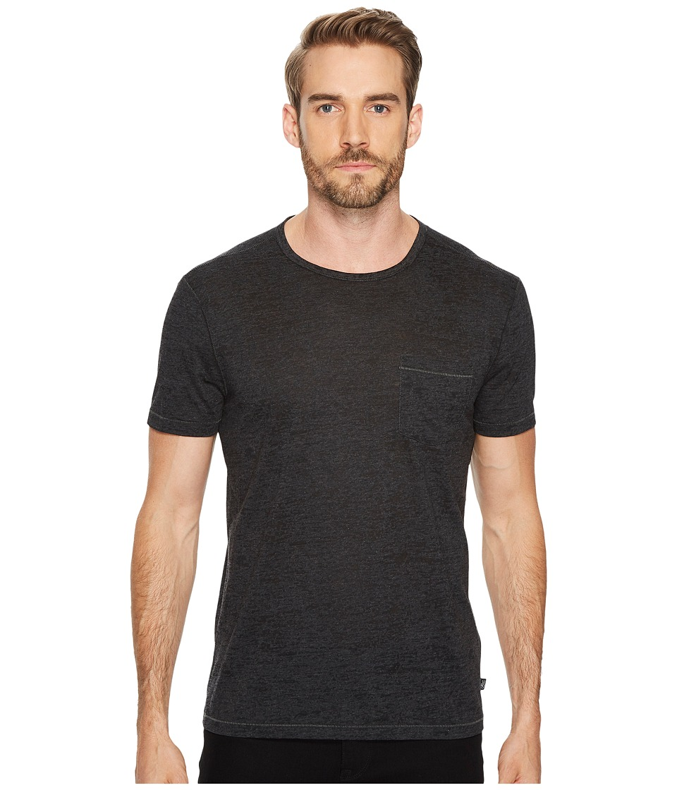 John Varvatos Star USA Burnout SS Crew Tee K303J4B Charcoal Heather Mens Clothing