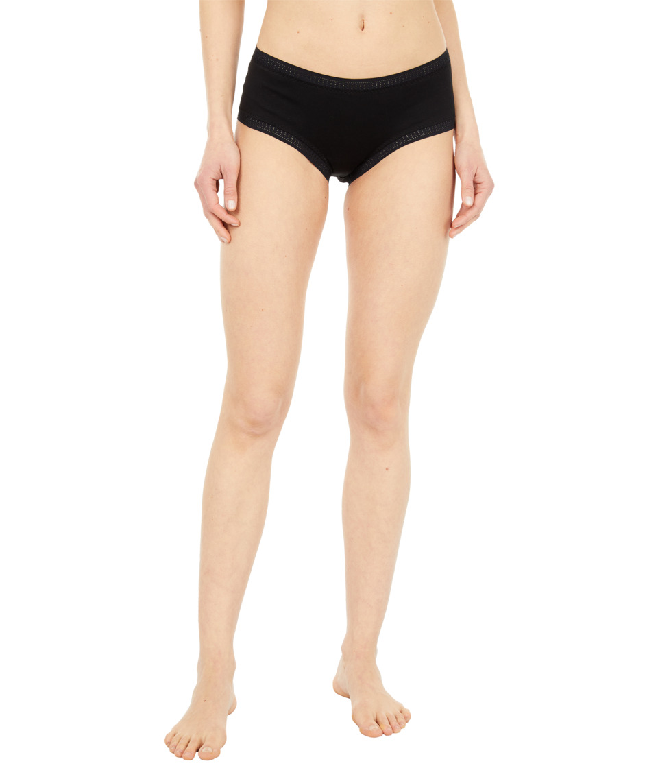 OnGossamer Cabana Cotton Boyshort 025973 Black Womens Underwear