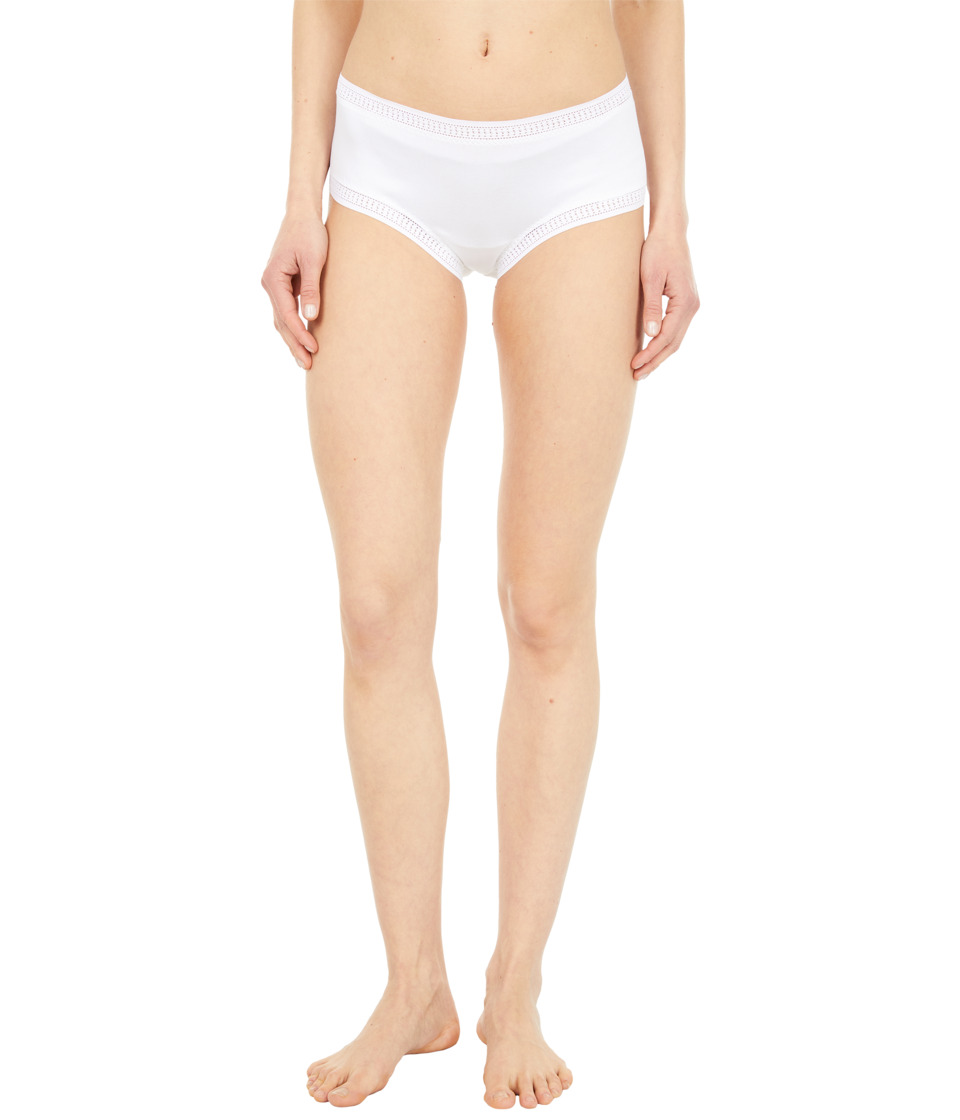 OnGossamer Cabana Cotton Boyshort 025973 White Womens Underwear