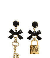 Betsey Johnson - Iconic Heart Lock & Key Earrings