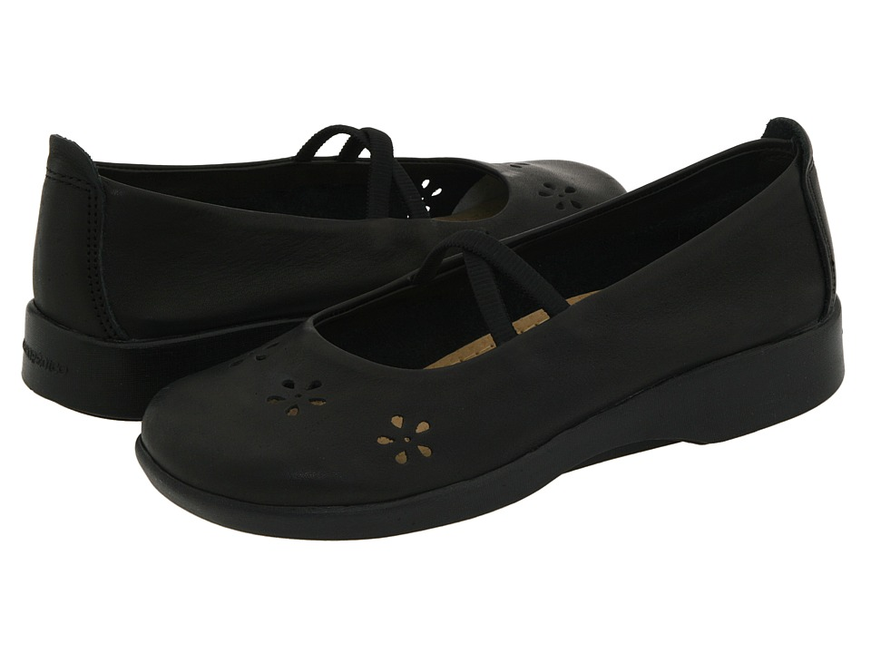Arcopedico Flower Black Leather Womens Maryjane Shoes