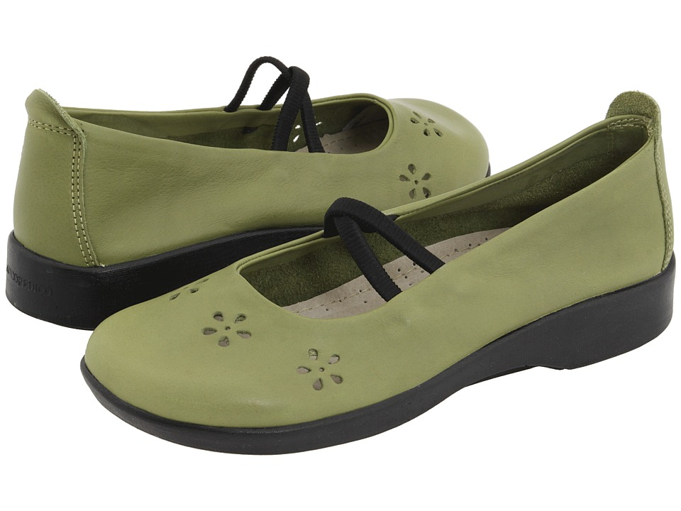 Arcopedico Flower Green Leather Womens Maryjane Shoes
