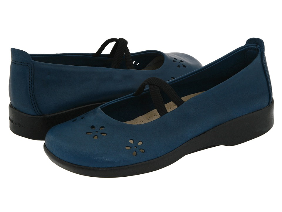 Arcopedico Flower Indigo Leather Womens Maryjane Shoes