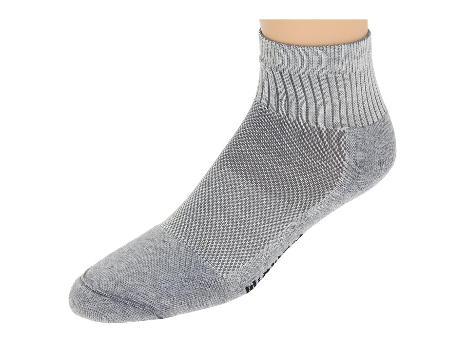 Wigwam - Cool-Lite Pro Quarter 1-Pair Pack (Grey) Quarter Length Socks Shoes