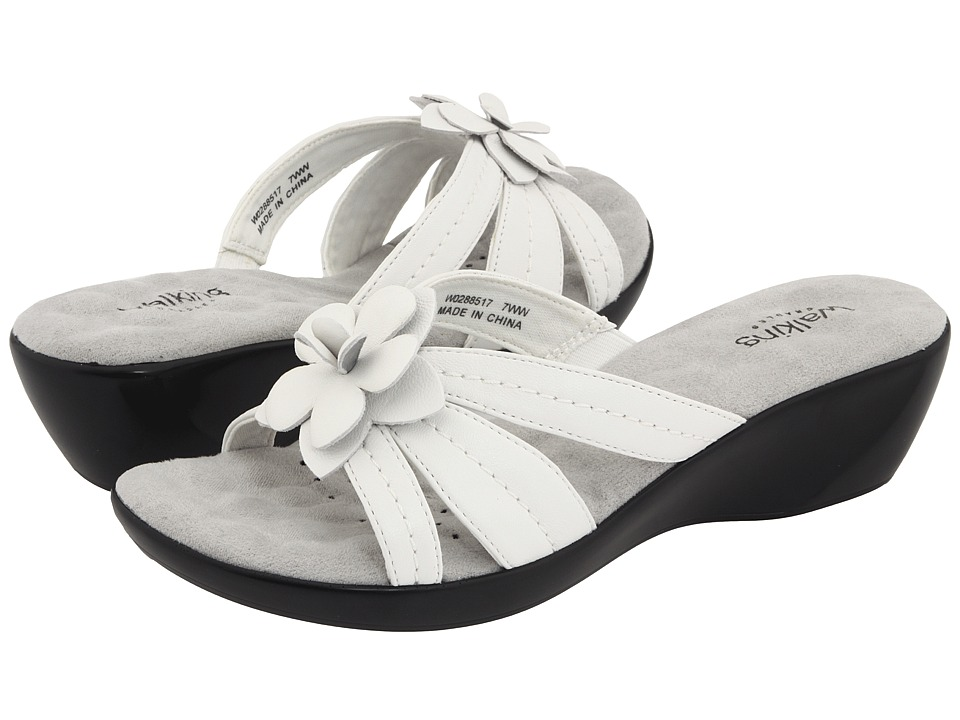 Walking Cradles Cali (White Nappa) Women's Sandals, Footwear, wide width womens sandals, wide fitting sandal, cute, WW