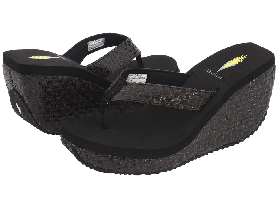 VOLATILE Cha-ching (Black) Sandals