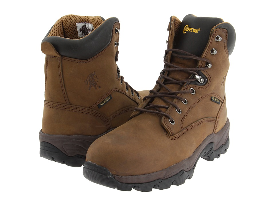 Chippewa - 8 55168 WP Insulated Comp Toe (Brown) Mens Work Boots
