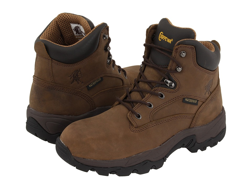 Chippewa - 6 55160 WP (Brown) Mens Work Boots
