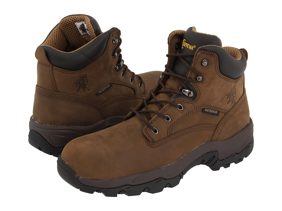 Chippewa - 6 55161 WP Comp Toe (Brown) Mens Work Boots