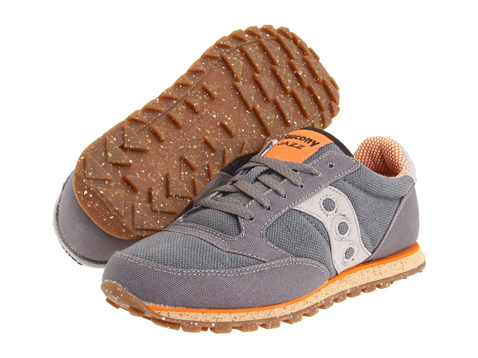 Saucony Originals - Jazz Low Pro Vegan (Charcoal/Orange) Men