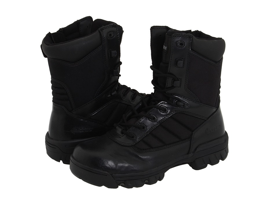 Bates Footwear Ultra Lites Black Leather Womens Work Boots
