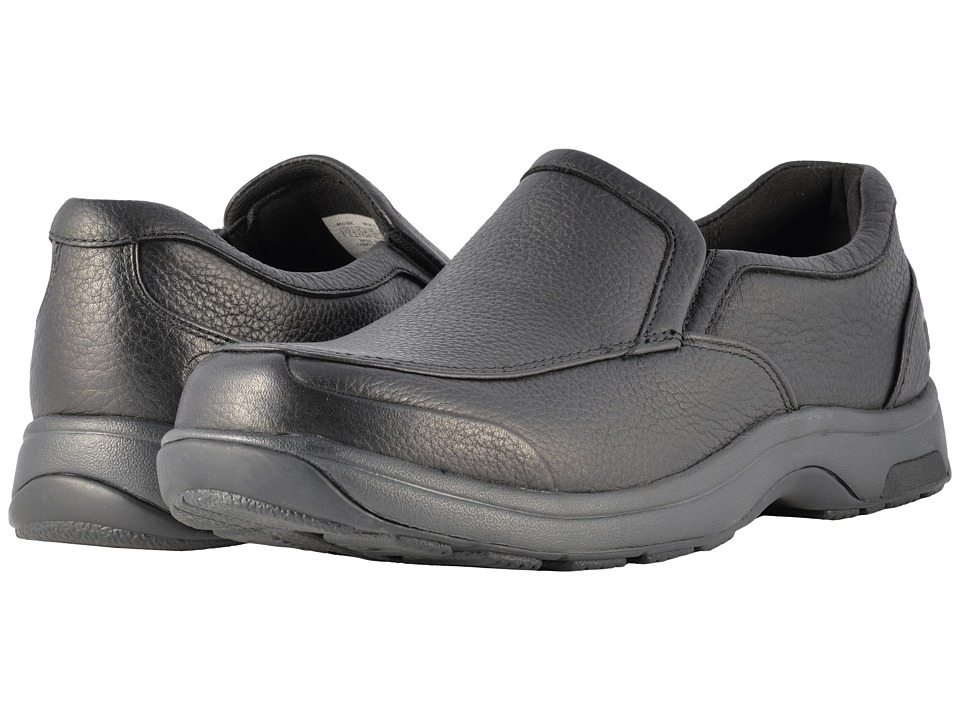Dunham Battery Park Slip-On (Black Polished Leather) Men